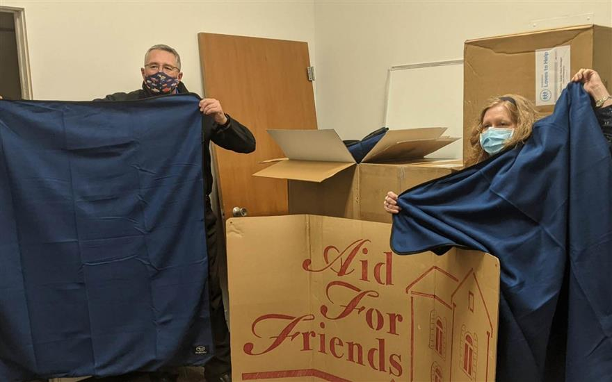 Getting Warm Blankets Out To The Homeless