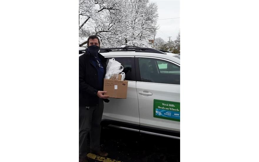 Blizzard Box delivery to Meals on Wheels clients