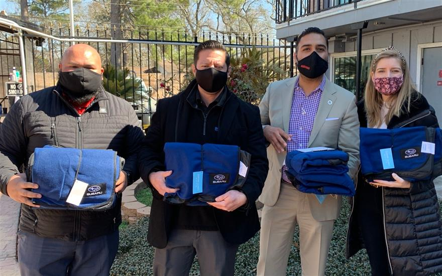 Gillman provides blankets during historic storm