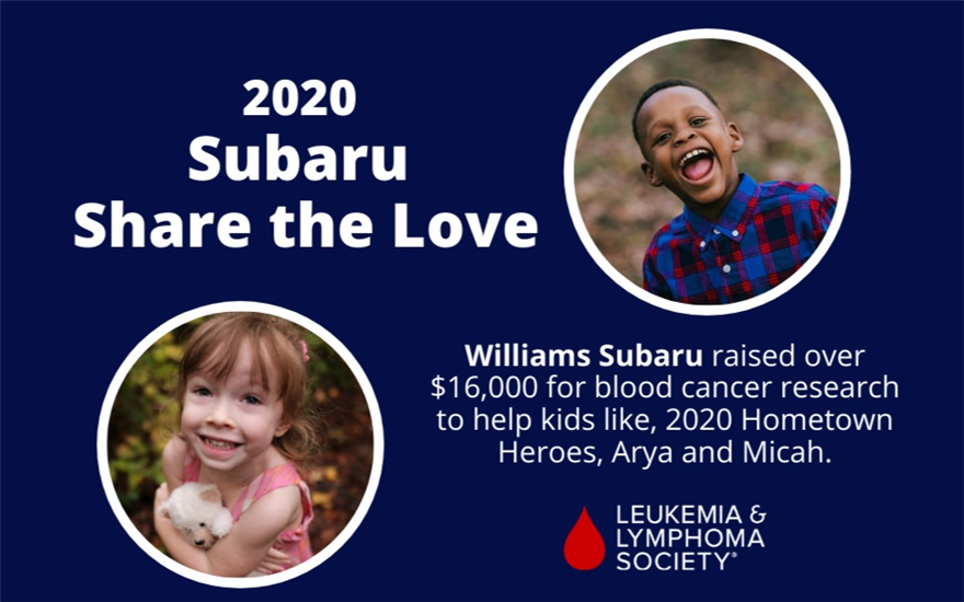 Williams Subaru Promises LOVE and CURES