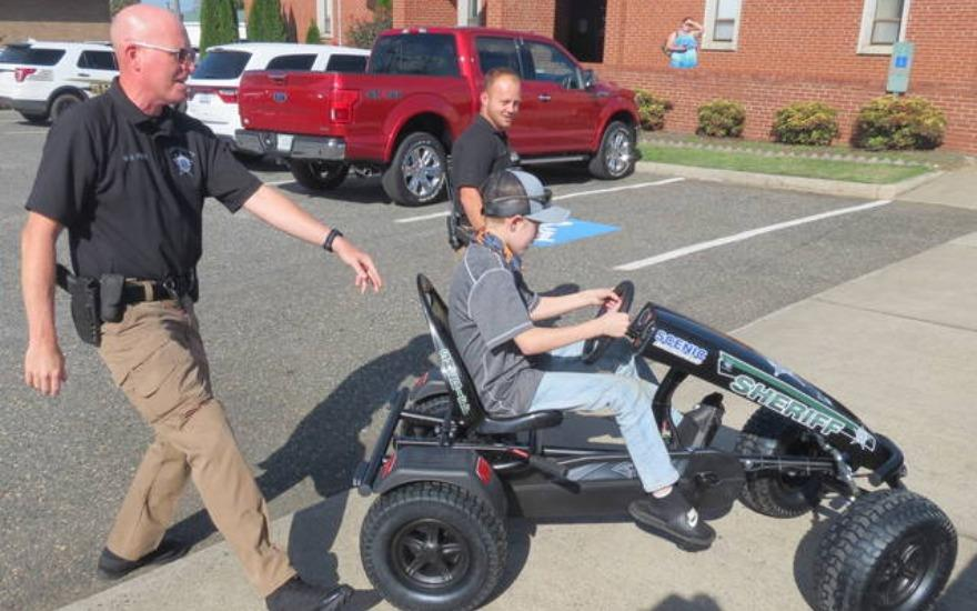 Pedal Car added to Sheriff's Office