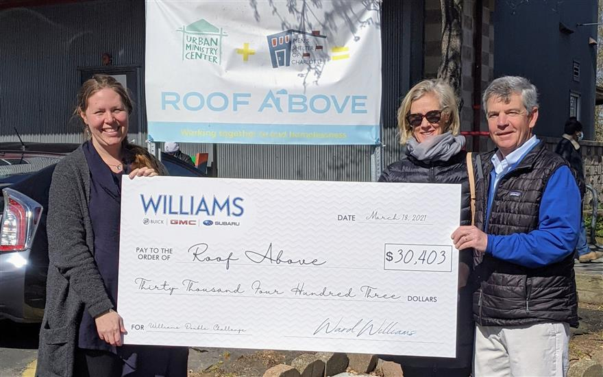 Donating Over $30,000 for a Roof Above