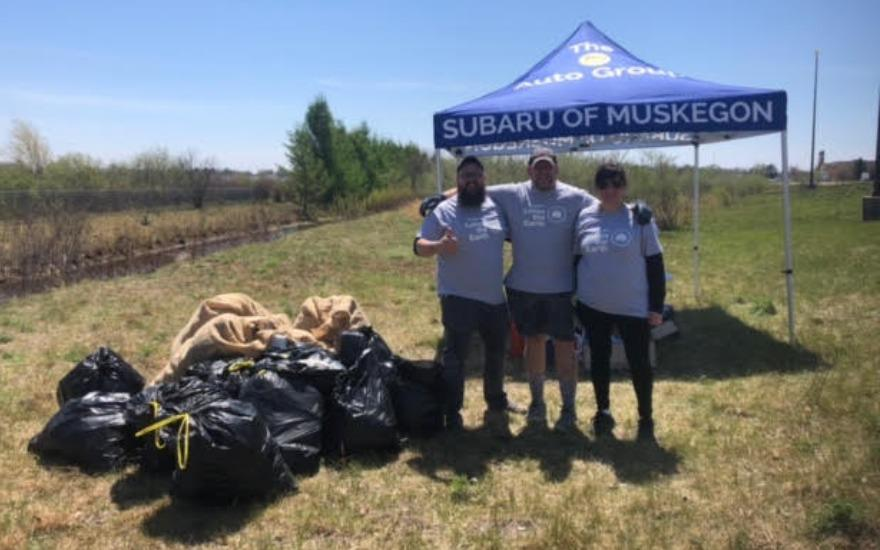 Subaru of Muskegon Collects Over 150lbs of Trash