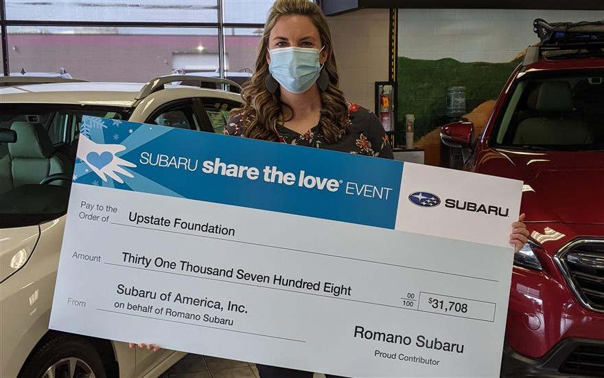 Romano Subaru Shares the Love-Upstate Foundation