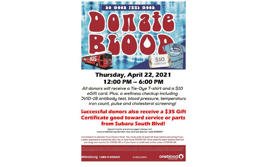 Quarterly Blood Drive Impacts up to 72 Lives
