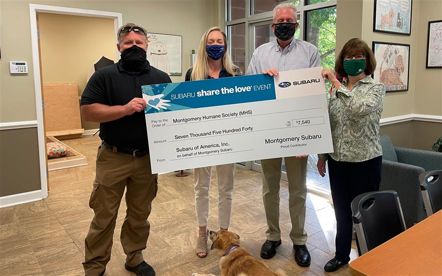 Share the Love to the Montgomery Humane Society