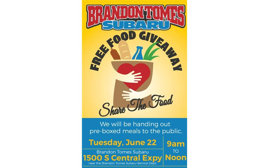 Free Food Giveaway: Share The food