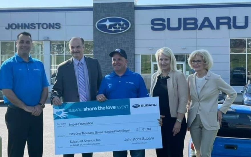 Johnstons Subaru Goes Above & Beyond for Inspire!