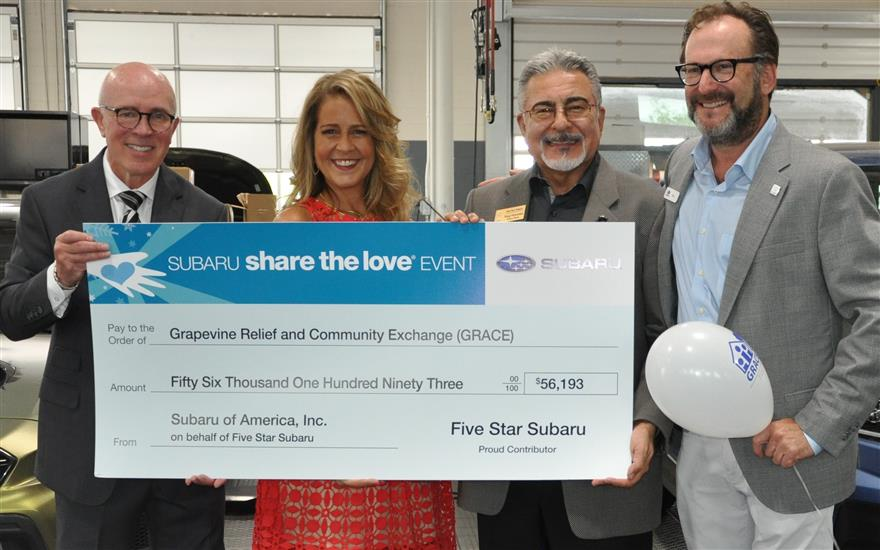 Subaru Shares The Love with GRACE