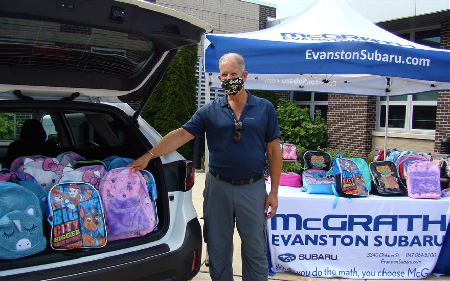 Backpack Donation at Madison School