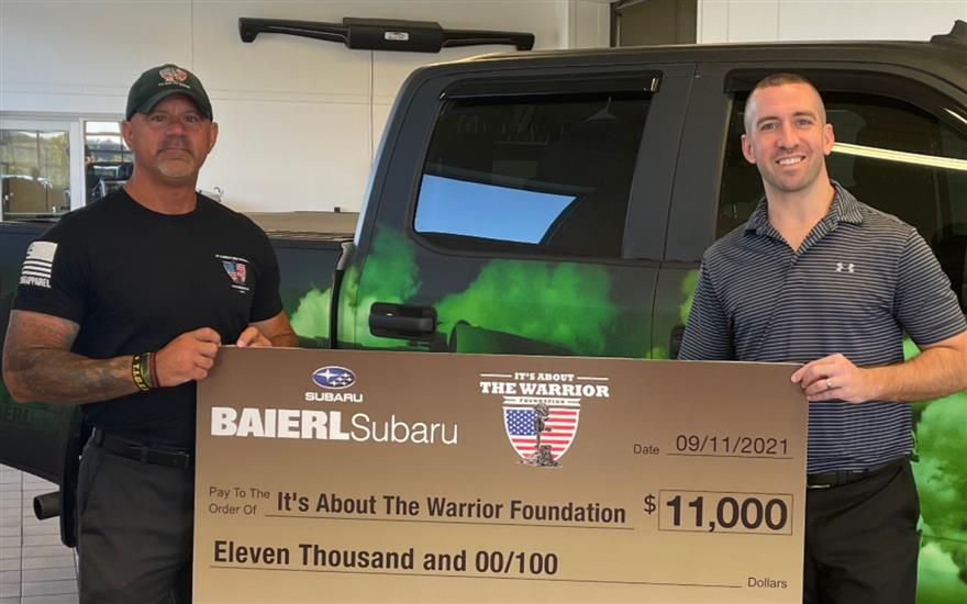 Baierl Subaru will never forget!